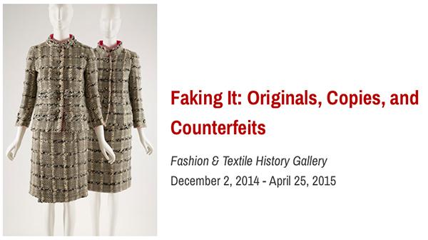"""FIT MUSEUM のファッションのコピーに関する展示 """"FAKING IT"""""""