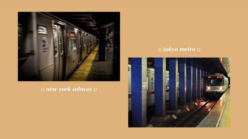東京とニューヨークの地下鉄で感じる3つの違い