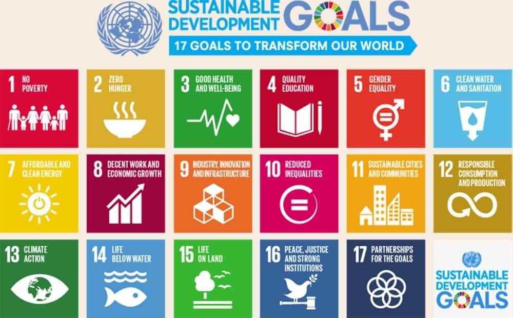 english SDG 17goals poster all languages with UN emblem 1